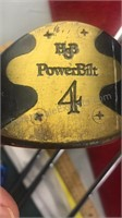 Set of 4 Vintage Power-Bilt Aluminum Shaft Wooden