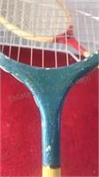 Vintage Wood and Metal Badminton Racquets