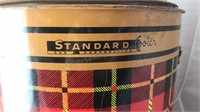 Vintage Standard Can Company Metal Can Cooler