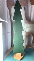 Wooden Christmas Decorations Vintage Deer 33""