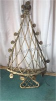 Decorative Wicker Christmas Tree Hanging