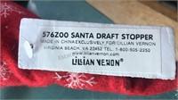 Lillian Vernon Santa Draft Stopper Plush Figure