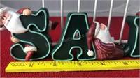 Set of Henton Santa Letter Figures that spells