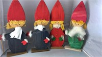 3 Vintage Bo-Strom Wooden Figures 3 Made In