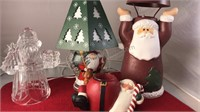 """Electric Santa Lamp 11"""" Tall Tested Working and 3"""