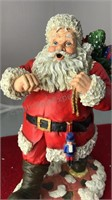 """3 Santa Figures 6"""" 5"""" 9"""" Tall"""