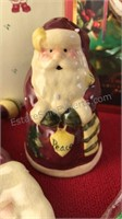 Ceramic Santa Salt and Pepper Set Holiday
