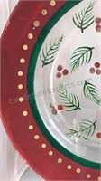 "Holiday Plates 13"" 8"" and 6"" Diameter"