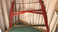 """Vintage Wooden Bow Saw 30x27"""""""