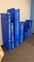 8 Stacks of Blue Plastic Bins