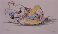 Henry Moore Color Lithograph, Mother & Child