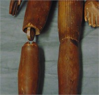 Pair of Early Wooden Jointed Mannequins