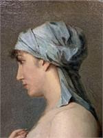 Orientalist Oil Painting. Portrait.