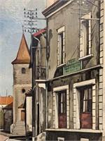 J. Reitz Oil on Canvas.