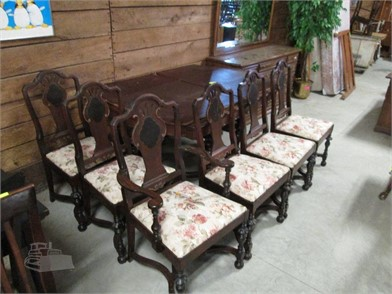 1800\'S LUCE CO. DINING TABLE & 6 CHAIRS RESTORED Other Items ...