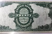 1891 $20 Large Size Silver Cert PMG VF 25 Net