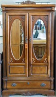 Furniture Mirrored Armoire / TV Cabinet