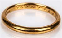 Jewelry 10kt Yellow Gold Men's Wedding Band