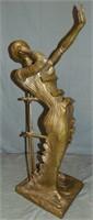 Dali Bronze. Femme en Flamme.