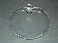 Steuben. Scroll Plate and Bowl