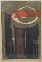 Reika Iwami. Limited Edition Woodblock.