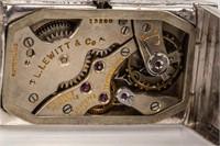 Jewelry 18kt White Gold L. Lewitt Wrist Watch