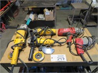 Assorted Electric Tools Including: Tin Snips, Impa