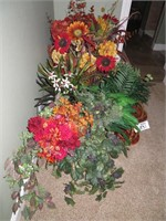 Large Lot of Assorted Faux Plants