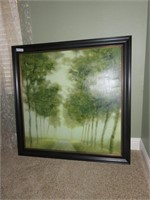 Framed Tree Painting