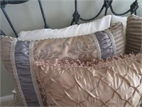 Bed Including: Headboard, Bedding, Pillows,