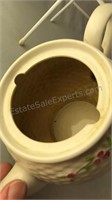 "1985 Teleflora Ceramic Tea Pot 6"" Tall"
