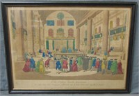 Judaica Hand Colored Litho.