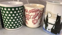 Collection of 13 Vintage Ceramic Coffee Cups