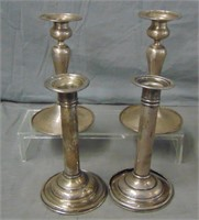 Two Pair of Candlesticks. Includes Sterling.