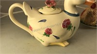 Collection of Ceramic Animal Tea Pots and