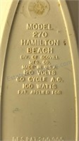 Vintage Hamilton Beach Wall Hanging Electric