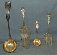 Lot of Four Sterling Serving Pieces.