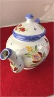 """HB Henriot Juniper Ceramic Tea Pot 7"""""""