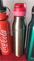 Collection of Metal and Plastic Sports Bottles