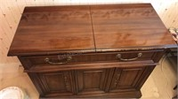 Vintage Drexel Buffet Cabinet With Fold Out Sides