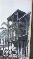 """Framed Print Of New Orleans Steel Scene 13x17"""""""