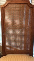 Vintage Wooden Dining Chair With Cane Back and