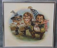 Sandy Huffaker  (born 1943) Oil on Canvas.