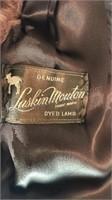 Vintage Laskin Mouton Dyed Lambs Wool Coat Satin