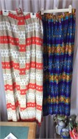 2 Vintage Skirts Possibly Hand Made Elastic Tops