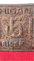 "1957 Michigan Trailer Plate 12x6"""