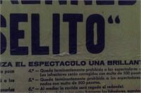 Vintage Bullfighter Matador Framed Poster
