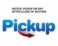 NOTICE OF PICKUP First Saturday after auction
