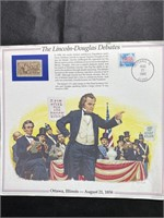 1989 The Lincoln-Douglas Debates postage card