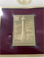 22 kt gold replica stamp